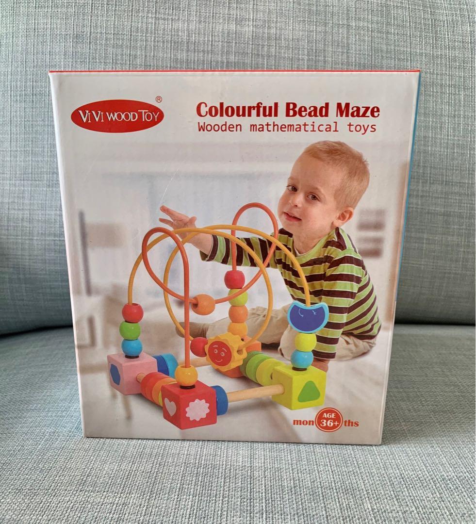 Brinquedo Educativo Labirinto de Contas Coloridas - ViVi Wood Toy