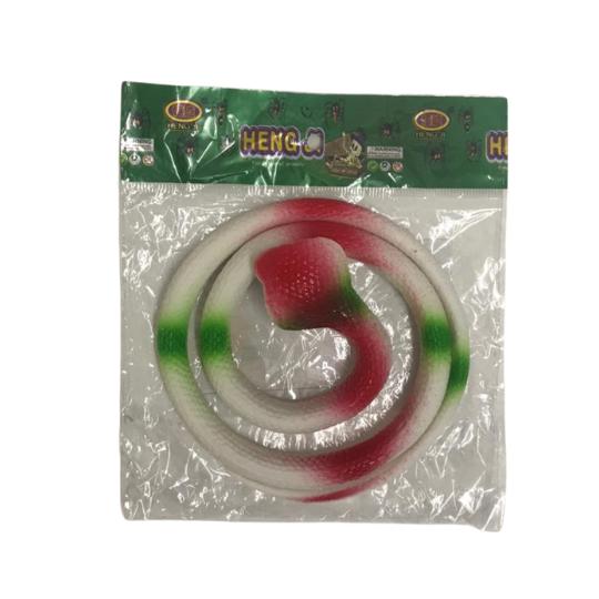 Cobra de Plástico - Verde e Vermelho