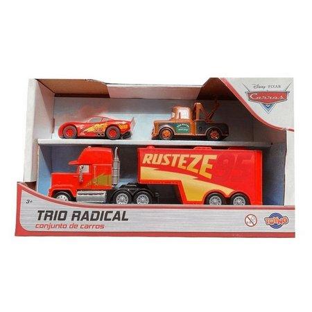 Conjunto de Carrinhos Trio Radical Disney Cars Toyng