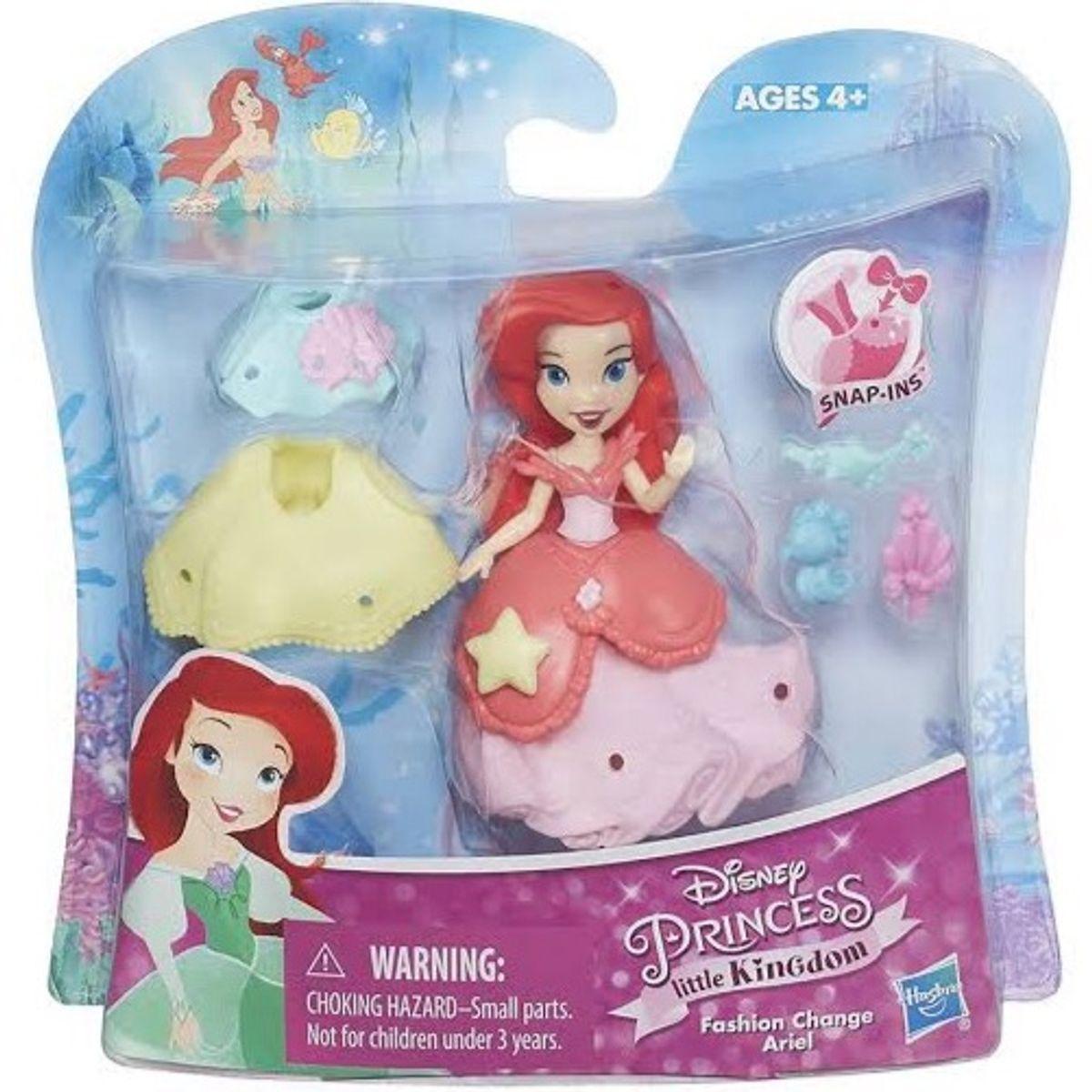 disney princess little kingdom ariel fashion change doll
