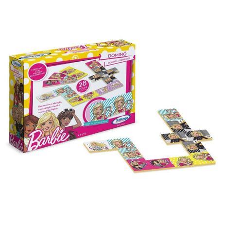 Domino Barbie 28 Peças - Xalingo