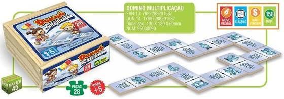 Dominó Multiplicação Com 28 Peças - Iob