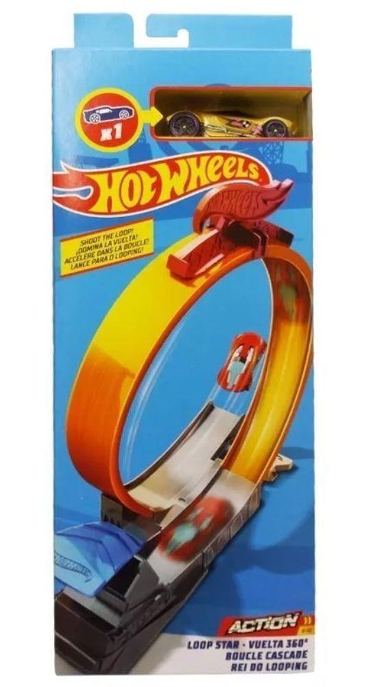 Hot Wheels - Set de Acrobacia - Veúclo e Pista