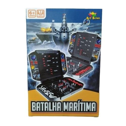 Jogo Batalha Maritima Naval Infantil + 2 Tabuleiros + Nf