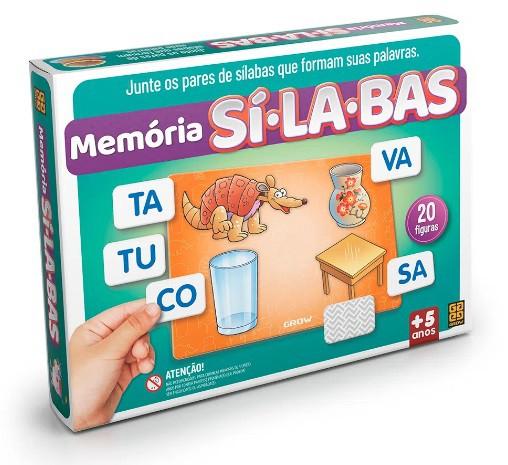 Jogo Memória Sílabas - Grow