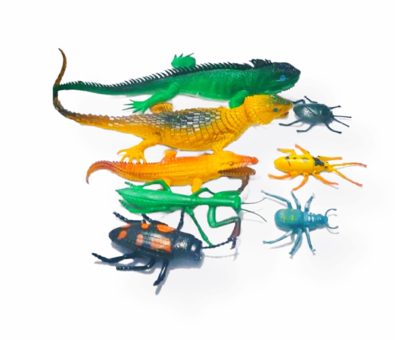 Kit animais Insetos De Borracha Insects com 8 peças- Barcelona