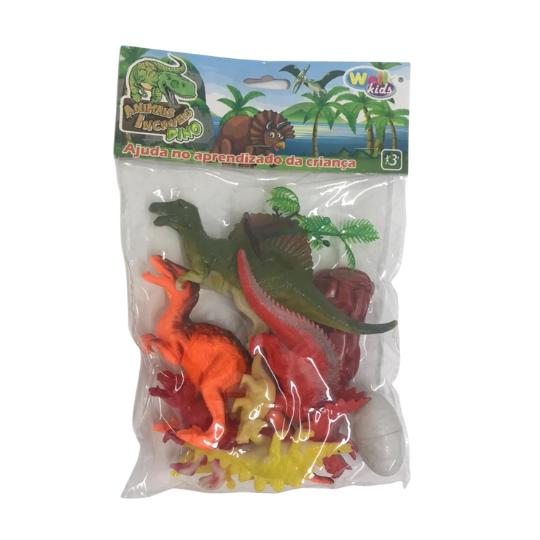 Kit Dinossauros - Animais Incríveis c/9 itens