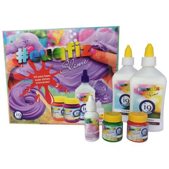 Kit Slime Glitter - Euqfiz - I9 Brinquedos