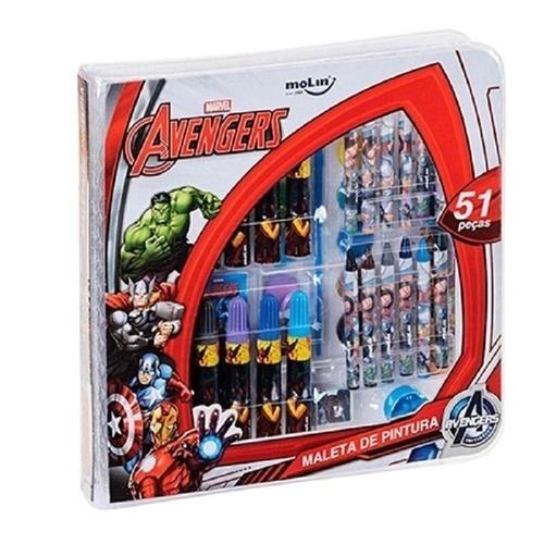 Maleta de Pintura Avengers 51 peças - Molin