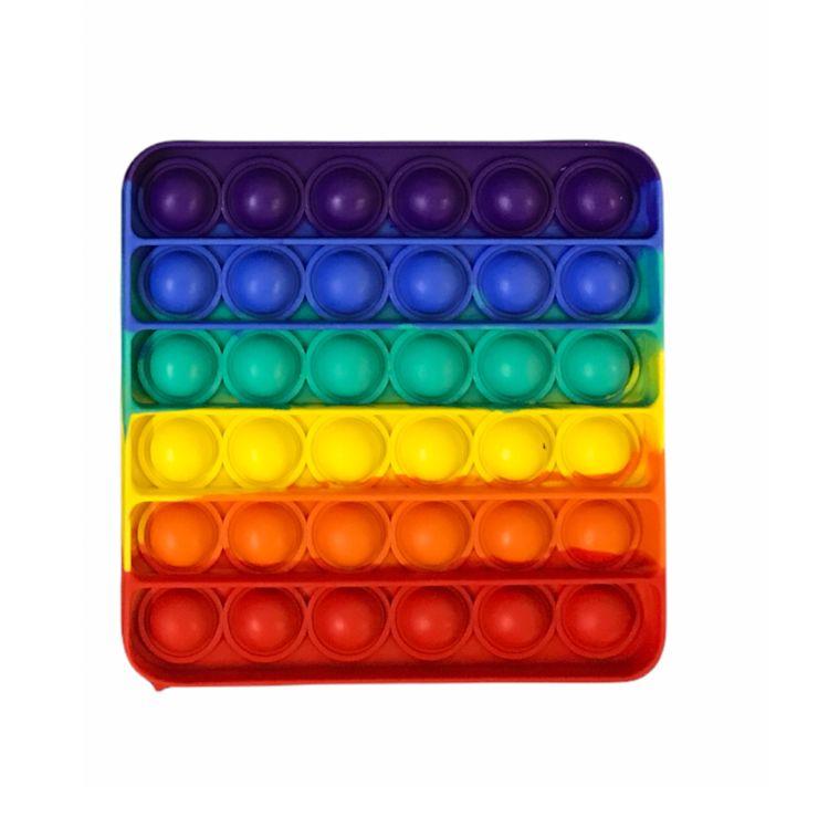 Pop It Fidget Brinquedo Sensorial Anti-Estresse Quadrado - Pop Mania
