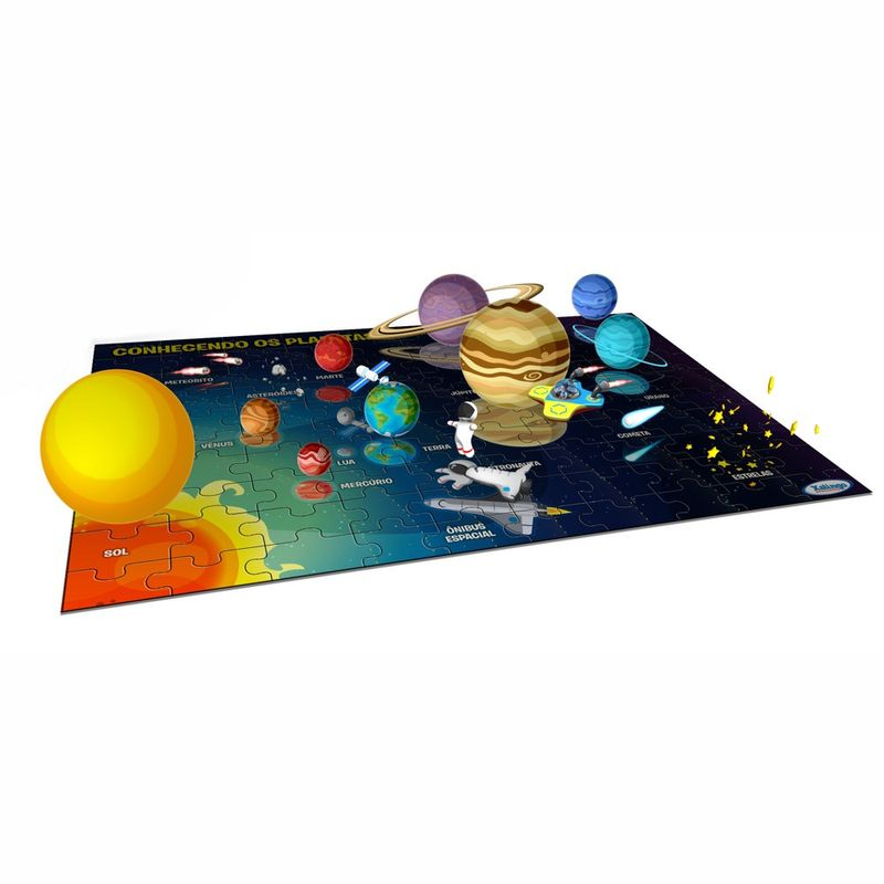 Quebra-cabeça 100 Peças Interactive Play Planetas - Xalingo