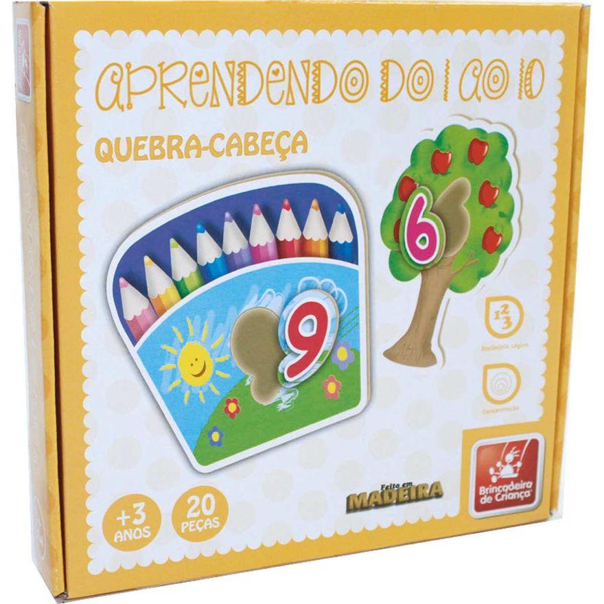 Quebra Cabeça Números 1 AO 10 20 - Brincadeira Criança