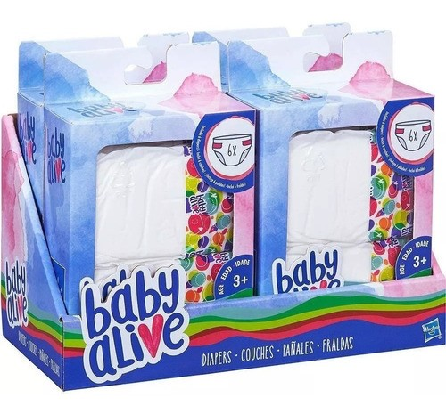 REFIL BABY ALIVE FRALDAS
