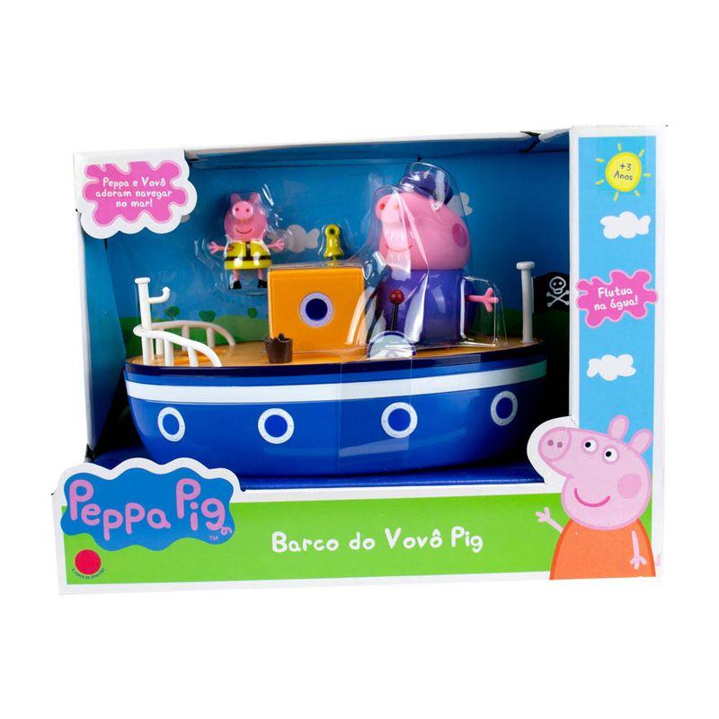 Veículo e Mini Figuras - Peppa Pig - Barco do Vovô Pig - Sunny