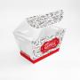 Embalagem para Batata Frita, Assada e Porções - 6x10x7cm - 100 unidades