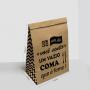 Saco Kraft para Delivery - Tamanho M - 24x14,5x34cm
