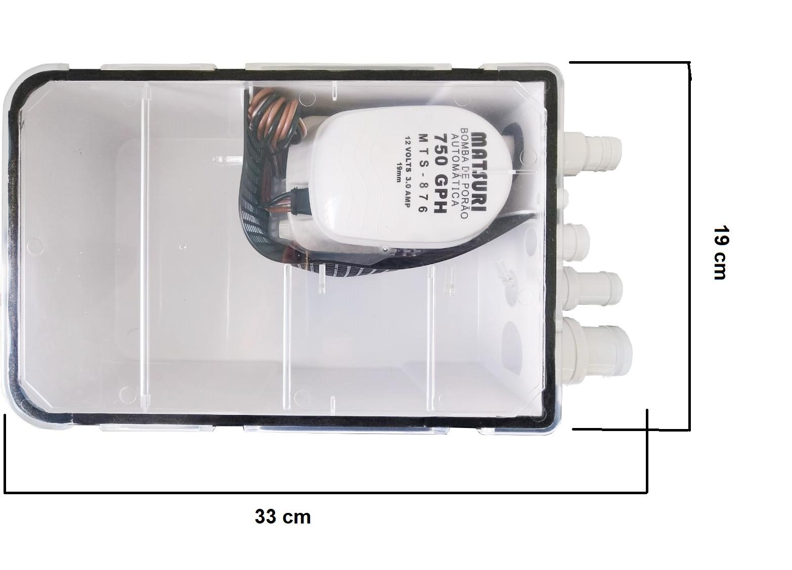 ELETRO BOMBA PARA BANHEIRO SHOWER 750 GPH 12 V