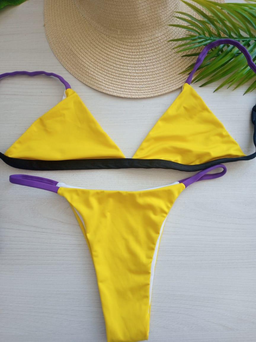 Biquíni Amarelinho Tricolor
