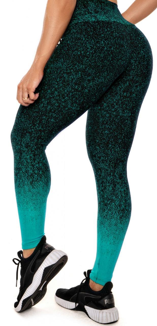 Calça Legging Gym Verde Piscina