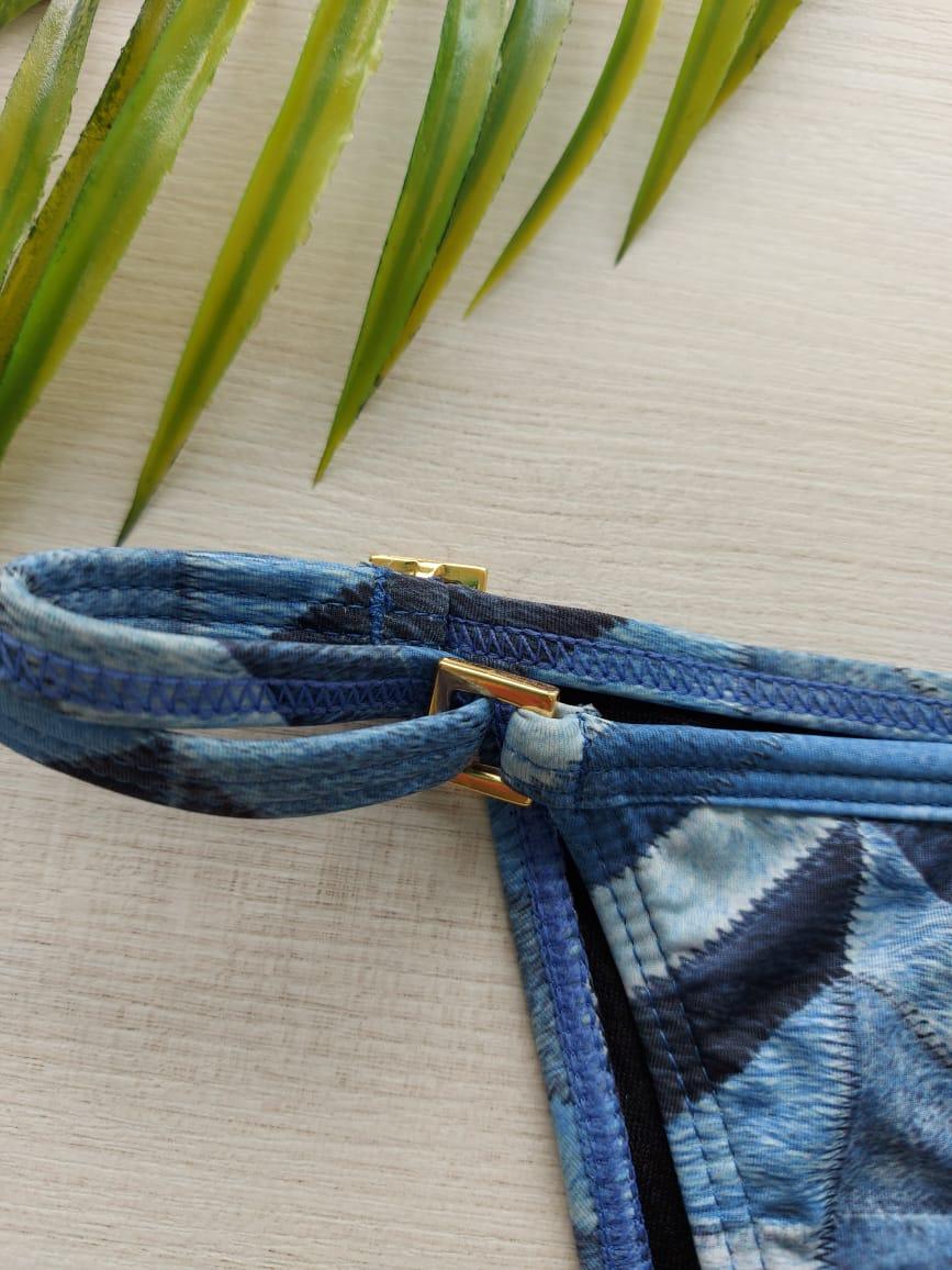 Tanga Azul com Regulagem