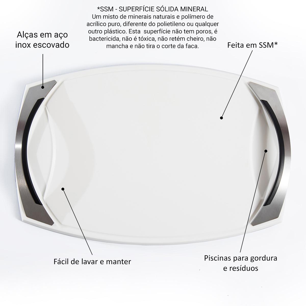 Tábua de Churrasco Bilbao White Medium