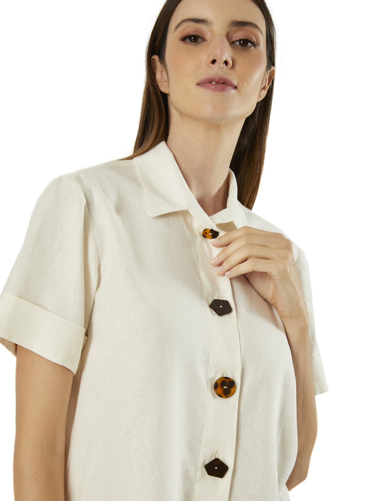 Camisa Linho Morada
