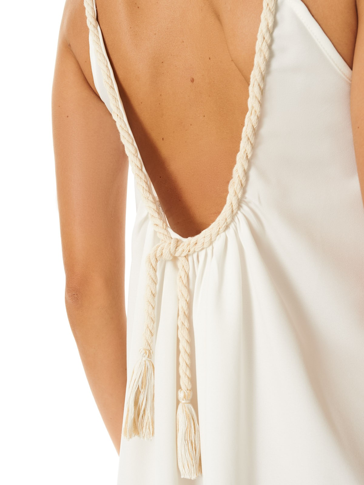 Vestido Crepe Corda