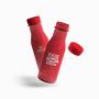 Garrafa Squeeze Plástica Personalizada Vermelha Hintz Cosmetics