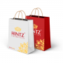 Sacola Vermelha de Papel para Presente com 10 Unidades Hintz Cosmetics