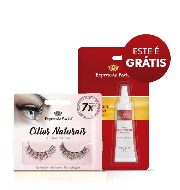 Cílios Postiços Expressão Facial Hintz Cosmetics Attractive 02