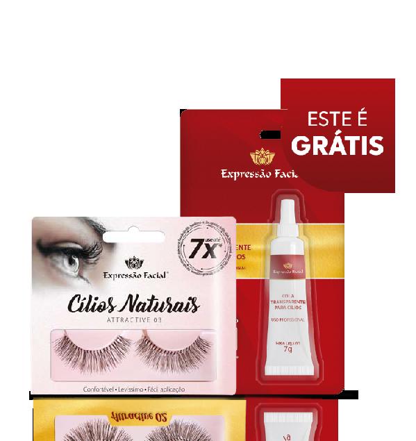 Cílios Postiços Expressão Facial Hintz Cosmetics Attractive 03