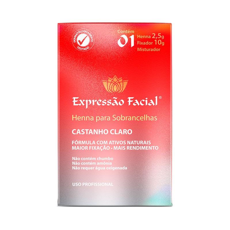 Henna para Sobrancelhas Castanho Claro Expressão Facial 2,5g