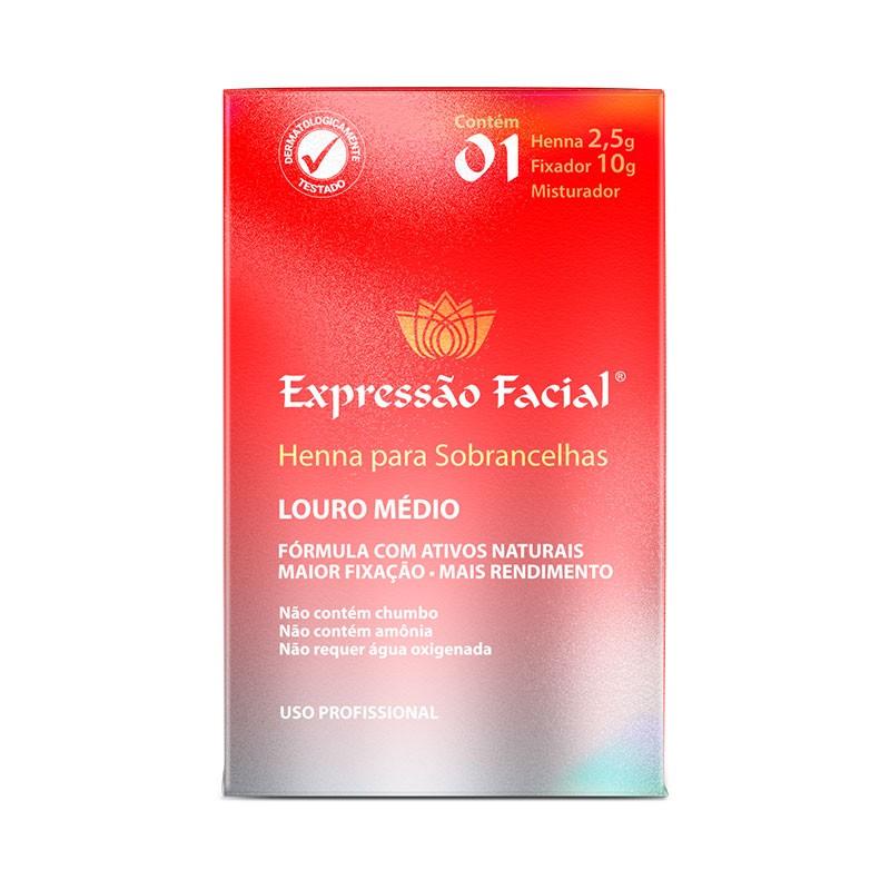 Henna para Sobrancelhas Louro Médio Expressão Facial 2,5g