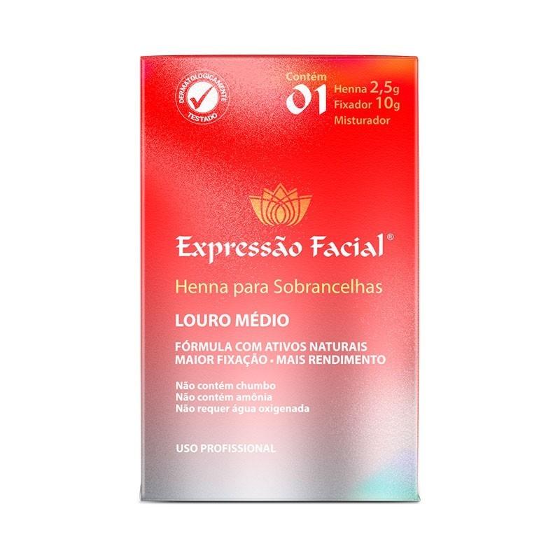 Henna Expressão Facial Hintz Cosmetics Louro Médio  2,5G