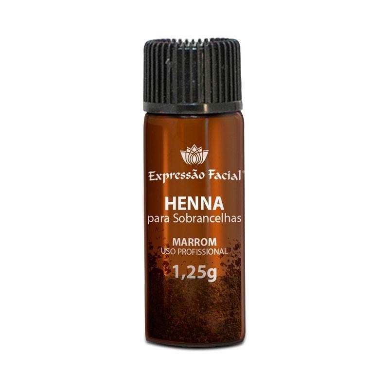 Henna Pocket para Sobrancelhas Preto Expressão Facial 1,25g
