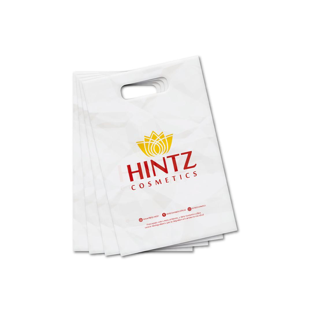Sacola Plástica Branca para Presente com 100 Unidade Hintz Cosmetics