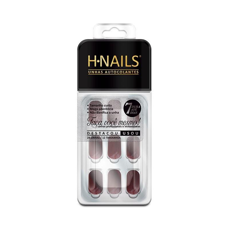 Unhas Autocolantes H-Nails Hintz Cosmetics Vinho Granada