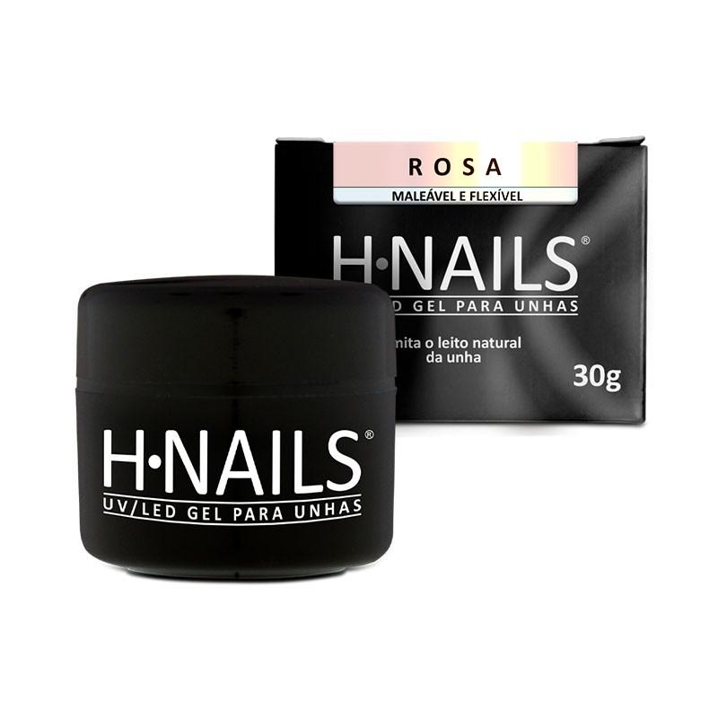 UV/LED Gel para Unhas Rosa H.NAILS 30g