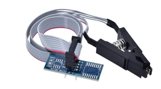 Adaptador e Clip de Testes para CI SMD modelo SOIC-08 / DIP-08
