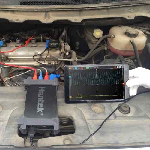 Osciloscópio Automotivo USB Hantek 6254BE Kit-4 250MHz