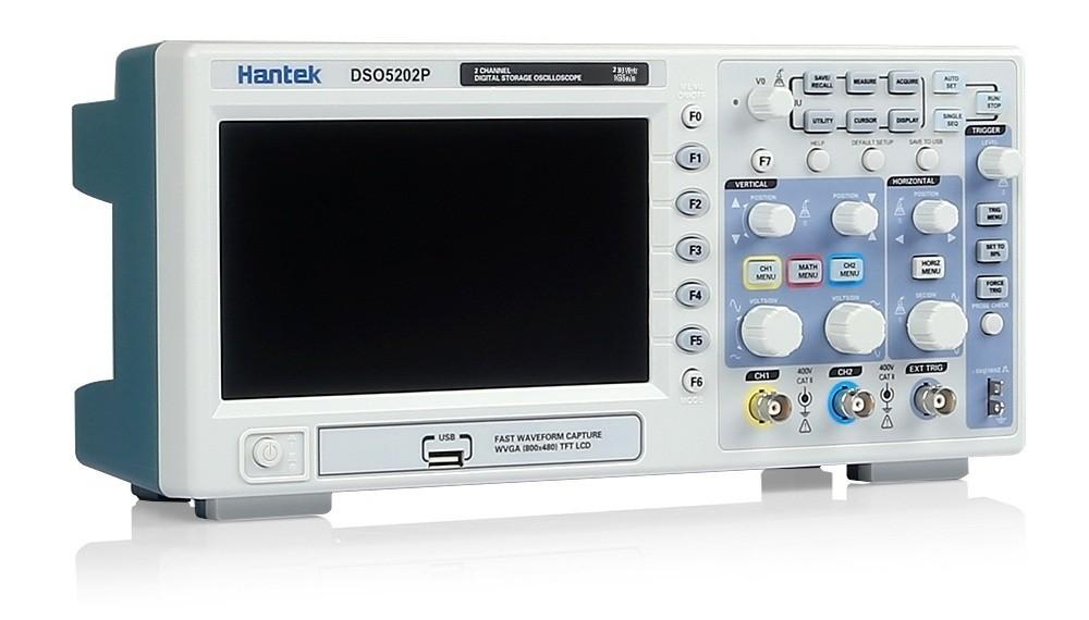 Osciloscópio Bancada 200MHz Hantek DSO5202P 1GSa/s 2 canais