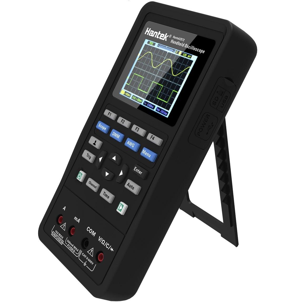 Osciloscópio e Multímetro Digital  2 em 1 Hantek 2C42 40mhz