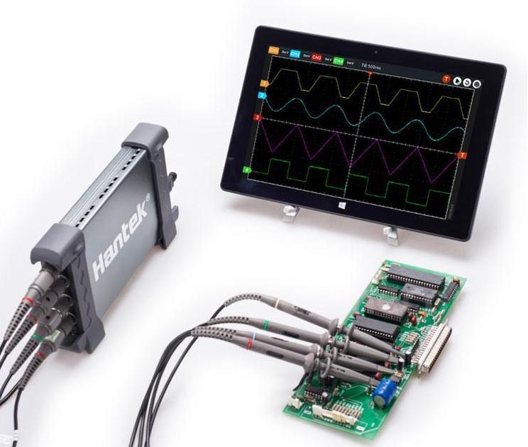Osciloscópio USB Hantek 200MHz 6204BC 4 canais