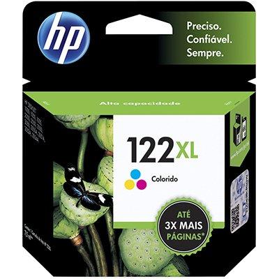 Cartucho HP 122 XL colorido 7,5ML Ch564Hb Original