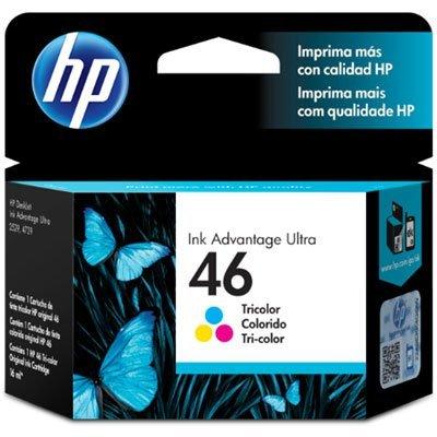 Cartucho HP 46 colorido CZ638AL  16ml Original*