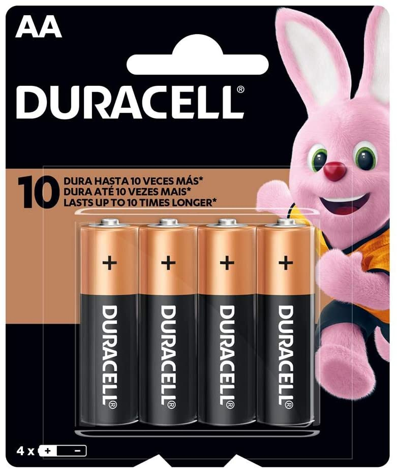 Pilha Alcalina AA C/4 Duracell