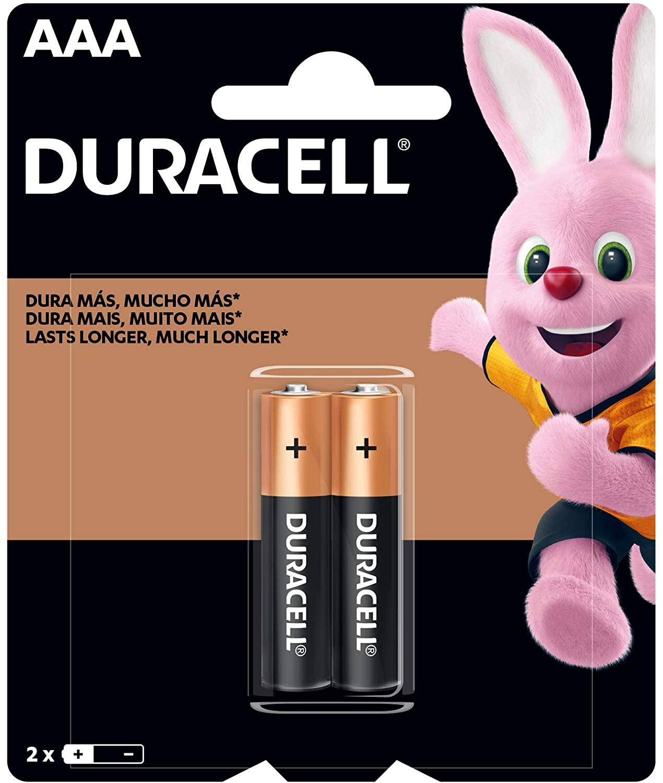 Pilha Alcalina AAA C/2 Duracell