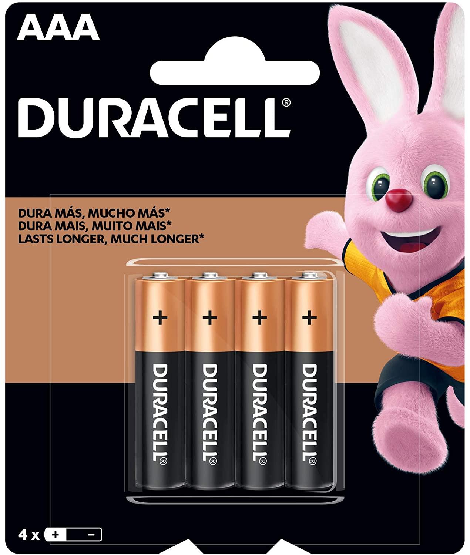 Pilha Alcalina AAA C/4 Duracell