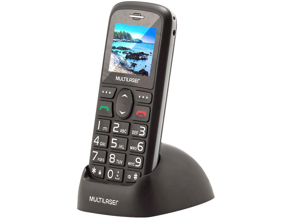 CELULART VITTA 3G PT COM BASE CARREGADORA P9091 MULTILASER