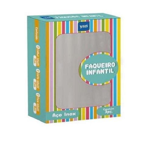 FAQUEIRO INFANTIL INOX 3PCS 19886 YAZI